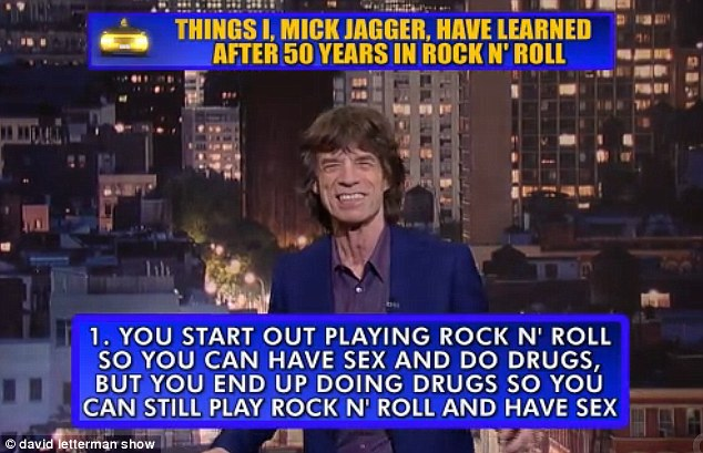 Witty Mick: This sums up the Stones longevity and the sense of humour that's fostered it