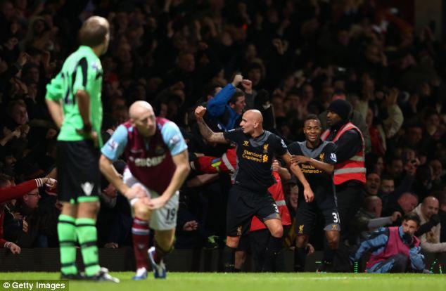 Liverpool won 3-2 at West Ham on Sunday without their leading scorer Suarez
