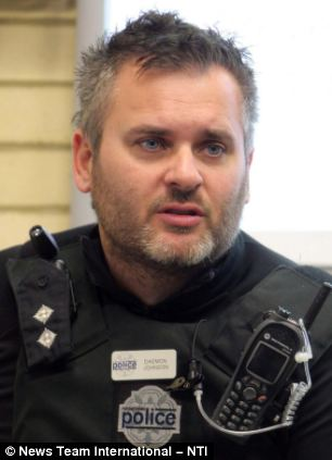 Sacked: Northamptonshire Police Inspector Daemon Johnson who was fired after posting a picture of his genitals of Facebook