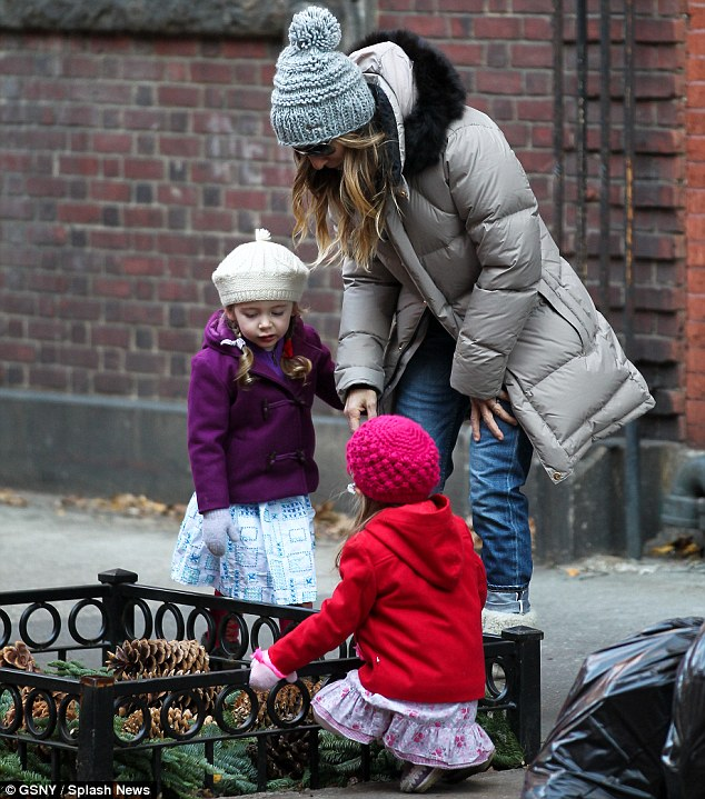 Playful: The actress was back in the Big Apple following her recent trip to Oslo, Norway, for the Nobel Peace Prize Concert