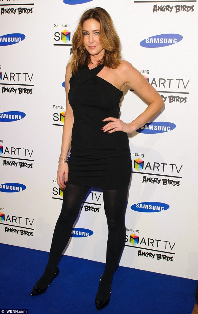 Host: Lisa Snowdon fixes the camera with a pout on her way into the Angry Birds event
