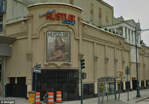 Failed: Mr Ilg filed a lawsuit against Hustler Club in New York, pictured, claiming he was so drunk bar staff should not have served him - but a judge dismissed the case
