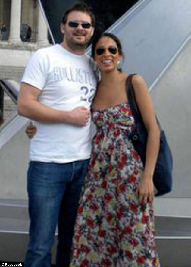 Financial adviser Paul Keene, pictured with his partner known as Gaby, allegedly strangled her with a dressing gown cord and then an electrical cable