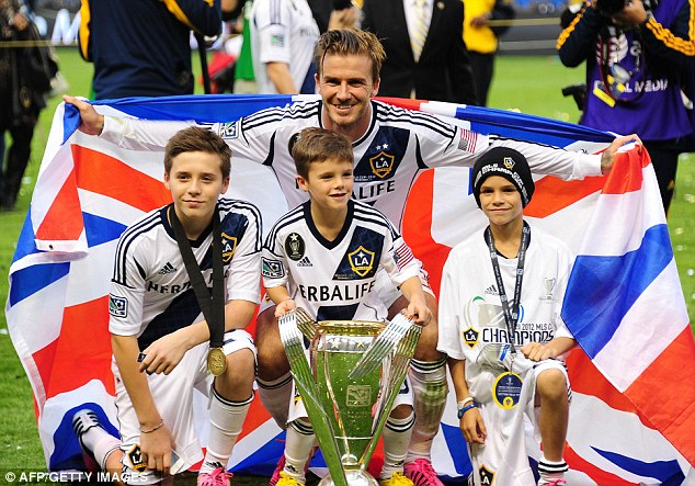 Triumphant days: Beckham enjoyed a successful time with LA Galaxy