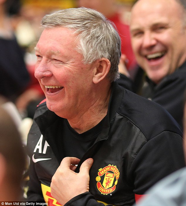 Hot under the collar? Did one of the youth teamers have the nerve to lampoon Sir Alex?