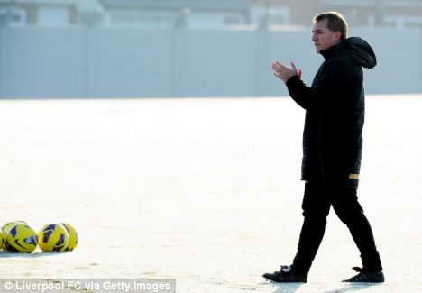 Braving the cold: Liverpool's recent form has pleased Rodgers