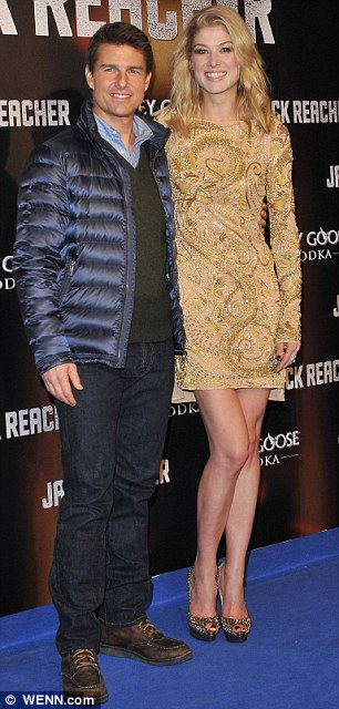 Respectful: The Saturday premiere of Jack Reacher, which stars Tom Cruise and Rosamund Pike, has also been postponed