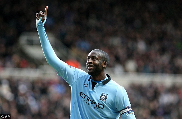 Another one: Yaya Toure scored City's third to seal the victory