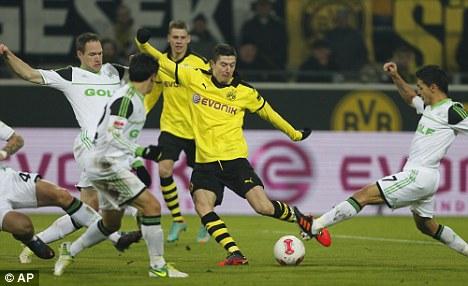 Star buy: Lewandowski has scored nine goals in 15 Bundesliga matches already this season