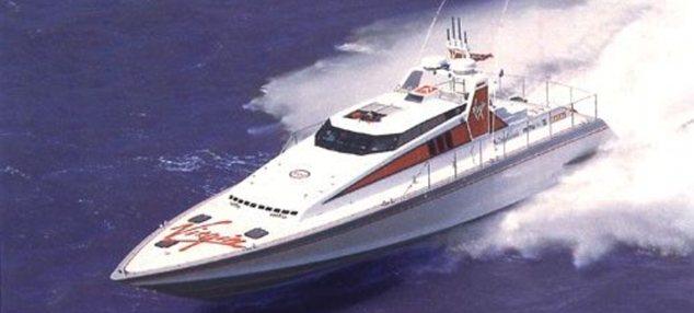Racer: Ridgway piloted Virgin's Atlantic Challenge speedboat