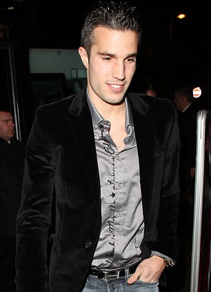 Robin Van Persie attends the Manchester United Christmas Party