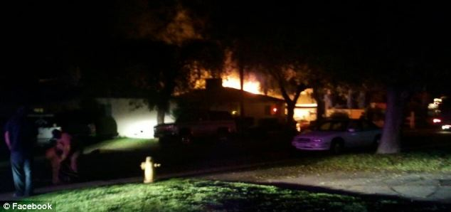 Jessica Horne posted this picture on Facebook of her house on fire