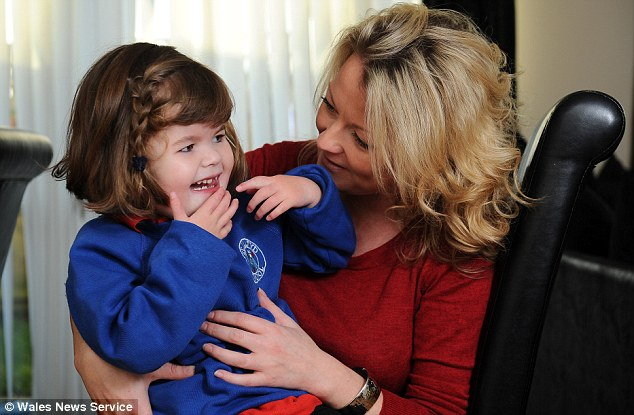 Natalie Pearce from St Athan in South Wales is trying to raise money so that her daughter Sienna can get a voice