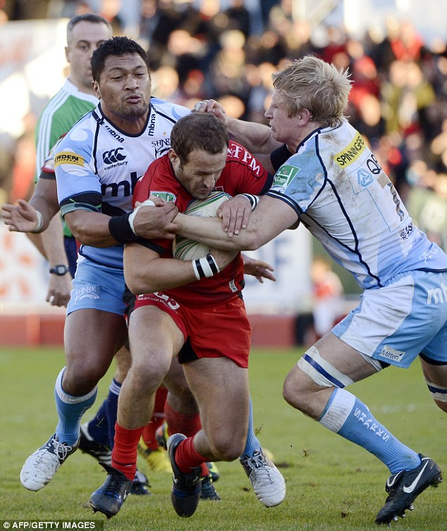Dominant: Frederic Michalak was to the fore as Toulon ran in nine-try and inflicted Sale's heaviest European Cup defeat