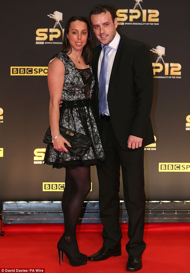 Dressed up: Gymnast Beth Tweddle went for a cute lace frock as she also brought boyfriend Steven Cryer along