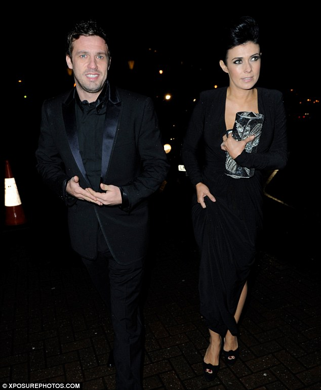 Sophisticated: The Corrie star managed to pull of an elegant but risqué look as she showed up for the event