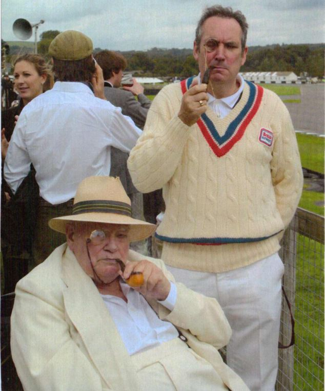 Loving memories: Sir Patrick Moore with Ian Makins who lost his father at five and his mother 17 years ago