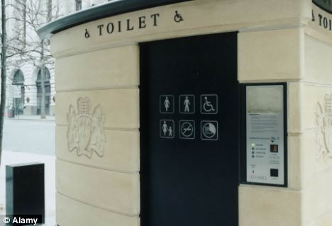 Cutting the line: Some councils, including those in the capital are spending a quarter of a million pounds less on public toilets each year