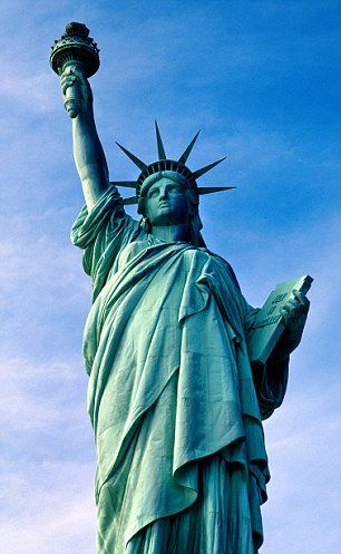 AYMJK1 The Statue of Liberty in New York USA