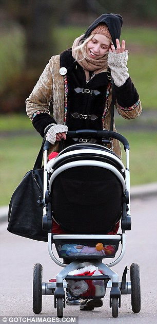 Momentary panic: The socialite admitted she was a little worried when she first found out she was pregnant again, but is now very excited