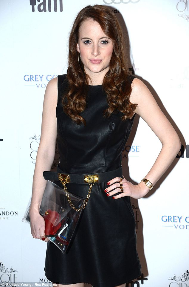Fashion fan: Rosie Fortescue also wore a black dress and wore it with a belt with gold detailing