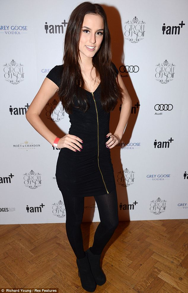 Made In Chelsea: New girl Lucy Watson opted for a little black dress which featured a gold zip detial