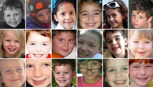Slaughtered: The 12 little girls and eight little boys - all age six and seven - gunned down in cold blood by 'mentally disturbed' shooter at Connecticut elementary school