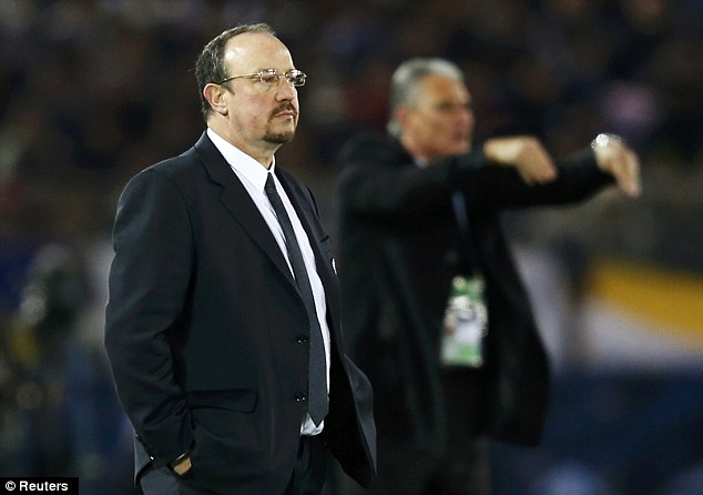 Outfoxed: Benitez's Chelsea were beaten by Corinthians in Japan on Sunday