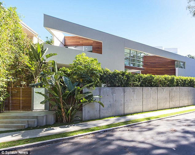 Fit for a star: The house is located on a quiet street in the trendy Brentwood section of Los Angeles