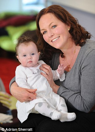 'My first marriage broke down within three years of us having children' Sally Orme with her daughter Av