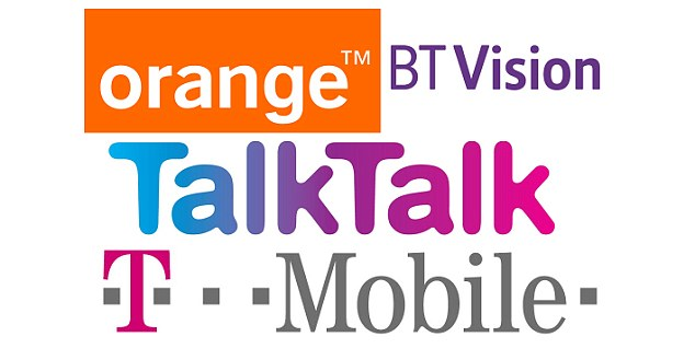 Good moaning: Orange, BT Vision, TalkTalk and T-Mobile have all topped categories in a poll which measures telecoms firms for the number of complaints they receive.
