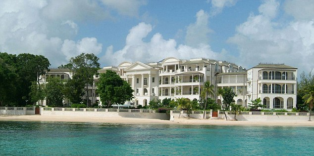 Luxurious: Rihanna and her family will stay at One Sandy Lane in Barbados