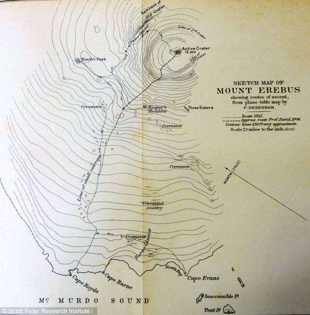 A document from Captain Scott's Antarctic expedition which has been used to re-discover his lost campsite