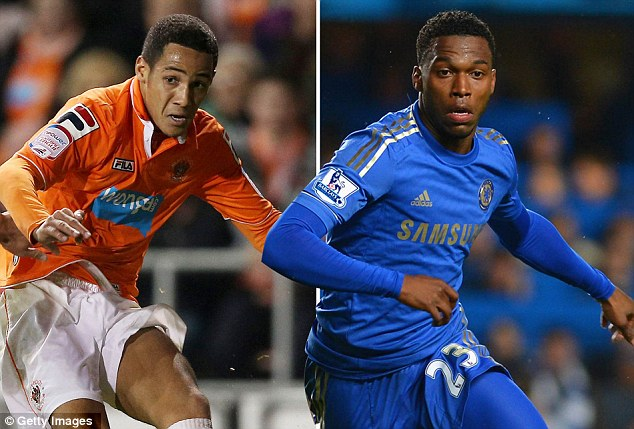 Anfield bound: Thomas Ince and Daniel Sturrdge are on their way to join Brendan Rodgers' Liverpool