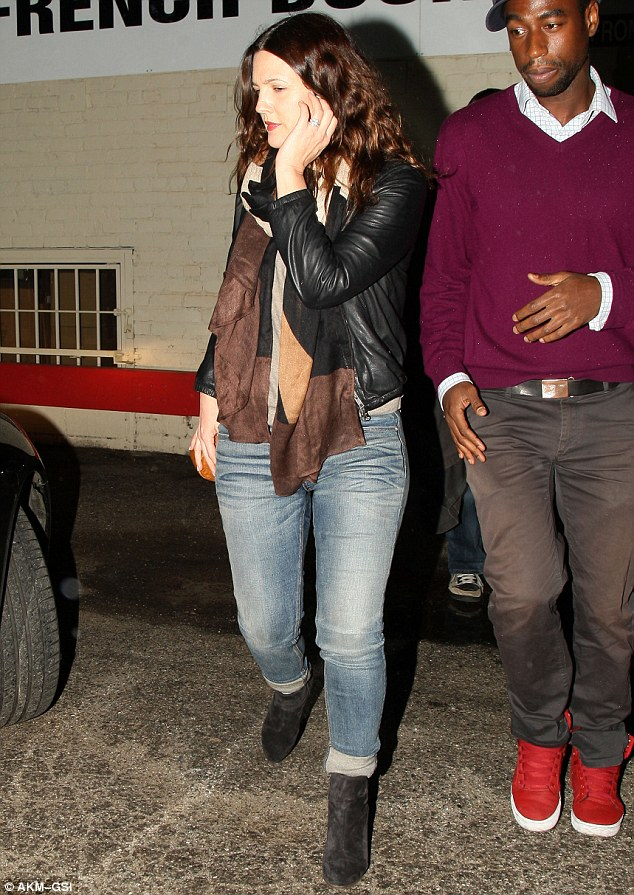 Living the life: On Monday night Drew left her daughter Olive at home as she headed out for the evening in Los Angeles