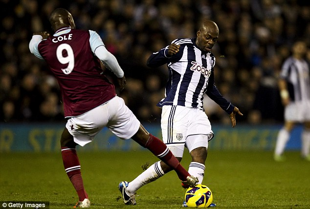 Hold on tight: West Brom need to keep hold of midfielder Youssouf Mulumbu
