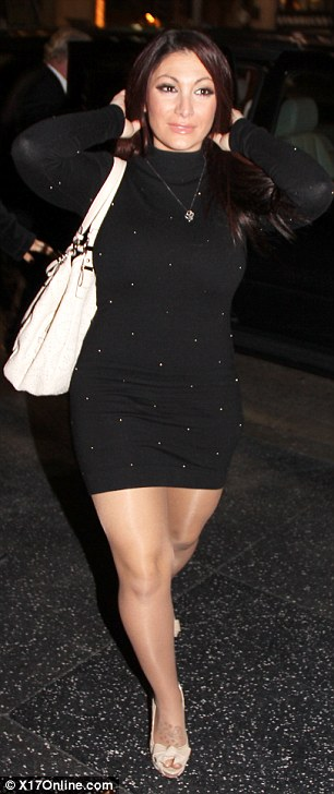 Wow! Jersey Shore castmembers JWoww and Deena clean up nice as they have dinner with Snooki in Hollywood