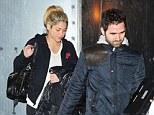 Love nest: Shakira and her footballer boyfriend, Gerard Piqué, were spotted checking up on their new home in Esplugas de Llobregat, near Barcelona, on Tuesday