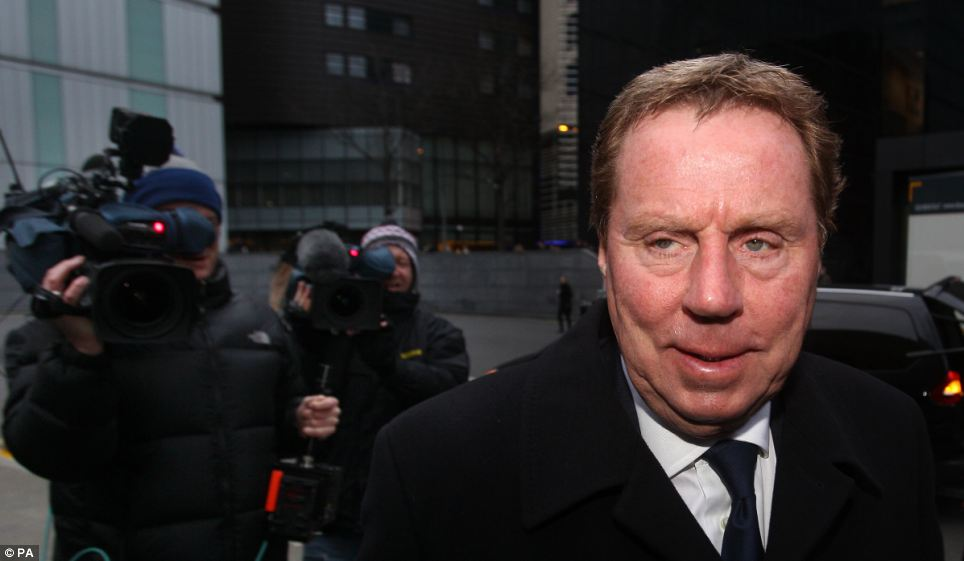 Court: Harry Redknapp at Southwark Crown Court, London, where he went on trial accused of tax evasion