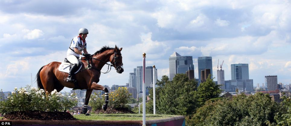 What a scene: Zara Phillips riding High Kingdom on the cross country course during the eventing at Greenwich Park on the third day of the London 2012 Olympics