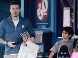 Getting ready for Christmas: Actor Brian Austin Green and his son Kassius shop in Los Feliz, California