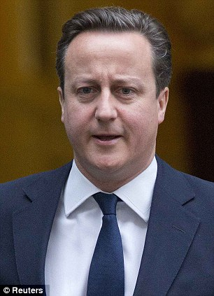 David Cameron, pictured leaving Downing Street today, announced the Government would award an Arctic Convoy medal