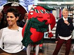 It's Holly Berry! Halle plays it for laughs as she becomes Ellen DeGeneres' Christmas mascot