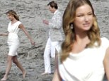 SPOILER ALERT: The cast of Revenge are feeling all white in matching outfits to film wedding between two central characters