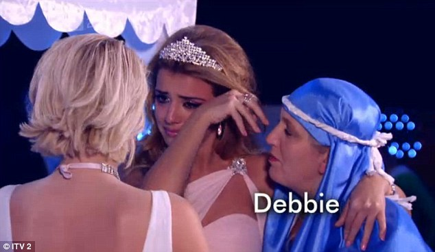 Cry baby: Lucy Mecklenburgh was devastated to hear that Lydia was leaving, even though she is staying in the area