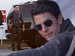 Hop on, son! Tom Cruise and son Connor travel in style as they jet out of New York in a private helicopter