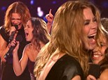Who's competing here? LeAnn Rimes tries to out sing X Factor teen Carly Rose Sonenclair as they duet on final