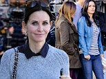 She's back: Courteney Cox steps out in LA between filming new season of Cougar Town