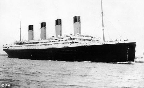 """Disaster: The """"unsinkable"""" four-funnelled ship Titanic was insured by Lloyd's for £1million"""