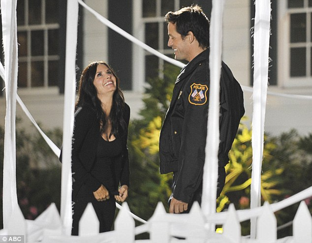 Co-stars: Courteney and Josh in a scene from their hit comedy show Cougar Town